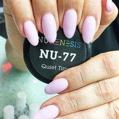 Beautiful hue of pink nail dip powder.