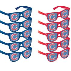 Chicago Cubs Printed Glasses 10ct - Party City