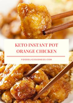 Keto Instant Pot Orange Chicken is a sweet and flavorful dish. This low carb orange chicken is made in instant pot, and with a delicious sauce. Also, it is easy to prep, for just 30 mins. Instapot Recipes Chicken, Chicken Thigh Recipes, Best Instapot Recipes, Low Carb Chicken Recipes, Shrimp Recipes, Keto Foods, Keto Meal, Keto Snacks, Snacks List