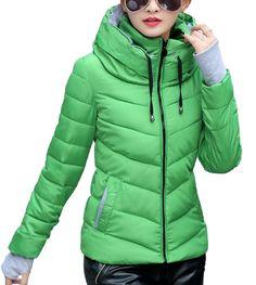 Dámská zimní bunda zelená