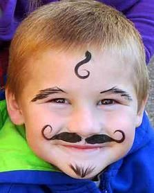 Face painting examples are very useful in the art of face painting. One of the greatest things about face painting examples, is that there are many reference Face Painting For Boys, Face Painting Designs, Painting Patterns, Simple Face Painting, Boy Face, Child Face, Pranks For Kids, Funny Faces, Face Art