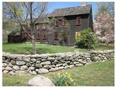 FARMHOUSE – vintage early american farmhouse in historic new england, a massachusetts saltbox home. Early American Homes, American Houses, Colonial House Exteriors, Colonial Architecture, England Houses, New England Homes, Saltbox Houses, Old Houses, Rustic Houses