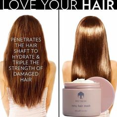 This deep conditioning treatment provides critical hydration by penetrating the hair shaft and tripling the strength of damaged hair. It prevents split ends and breakage, making hair smooth, shiny, and manageable for up to seven days. Nu Skin, Love Your Hair, How To Make Hair, Fly Away Hair, Deep Conditioning Treatment, Smooth Hair, Shiny Hair, Sleek Hair, Laser Hair Removal