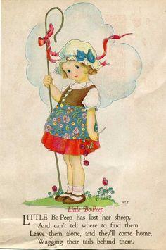 Margaret Evans Price illustration- Little Bo Peep