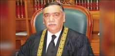 LAHORE: Justice Asif Saeed Khosa on Monday took oath as acting Chief Justice of Pakistan (CJP) in the absence of Justice Mian Saqib Nisar w. Instant Money, Chief Justice, Popular News, Imran Khan, Pakistan News, Bbc News, News Today, How To Be Outgoing, Sentences