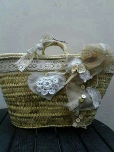 Cestas Flower Bag, Creation Couture, Basket Bag, Hippie Style, Ibiza, Straw Bag, Wicker, Creations, Reusable Tote Bags