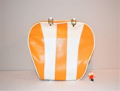 Vintage Rockabilly Retro Gold Bowling Bag by CheekyVintageCloset on Etsy Bowling Bags, Rockabilly, Stripes, Retro, Yellow, Gold, Vintage, Style, Swag