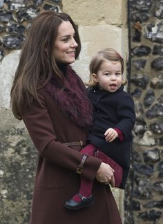 BUCKLEBURY, BERKSHIRE - DECEMBER 25:  Catherine, Duchess of Cambridge and Princess Charlotte of Cambridge attend Church on Christmas Day on December 25, 2016 in Bucklebury, Berkshire.  (Photo by Samir Hussein/Samir Hussein/WireImage) via @AOL_Lifestyle Read more: http://www.aol.com/article/lifestyle/2016/12/25/kate-middleton-prince-william-and-family-attend-christmas-servi/21641812/?a_dgi=aolshare_pinterest#fullscreen