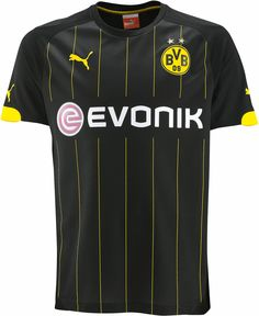 1e5483354b5 The new Borussia Dortmund away soccer jersey also features black color with  yellow applications. But still have some detail differences. The new jersey  ...