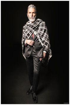 Aiden Shaw Stars in El Burgués Fall/Winter 2015 Campaign Butch Girls, Aiden Shaw, Gay Male Models, Fabulous Fox, Smoking Jacket, Got The Look, Men Style Tips, Fall Winter 2015, Bearded Men