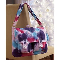 Tie-dye Peace Messenger Bag from Ginny's ®