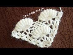 Triangle Shelf Description With Rokoko T - Diy Crafts Crochet Stitches Patterns, Crochet Motif, Crochet Shawl, Crochet Hooks, Crochet Baby, Stitch Patterns, Knitting Patterns, Knit Crochet, Bijoux Art Deco