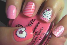 cupcake art nails
