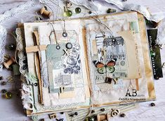 Junk Journal Project part can find Junk journal and more on our website.Junk Journal Project part 6 Junk Journal, Album Journal, Scrapbook Journal, Journal Covers, Art Journal Pages, Art Journals, Memory Journal, Notebook Covers, Art Doodle