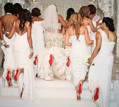NeNe Leakes'wedding...Louboutins anyone?  Visit our Facebook page here!:  www.facebook.com/therealhousewivesfanclub