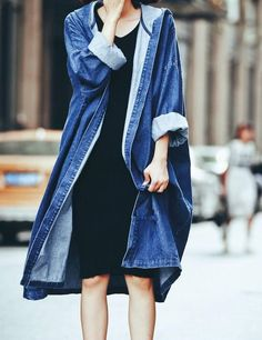 Shop Blue Hooded Loose Denim Trench Coat online. SheIn offers Blue Hooded Loose Denim Trench Coat & more to fit your fashionable needs.