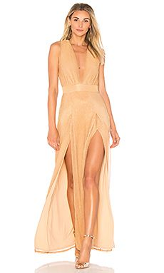 60bf7ffaf73 Shop for Lovers + Friends Naomi Gown in Rose Gold at REVOLVE. Free 2-