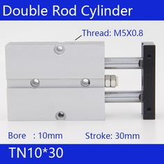 TN10*30 Free shipping 10mm Bore 30mm Stroke Compact Air Cylinders TN10X30-S Dual Action Air Pneumatic Cylinder #Affiliate