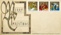 New Zealand Christmas Stamp Series Mail Art, Postage Stamps, Poster, Gallery Wall, Frame, Illustration, Coins, Christmas, Design