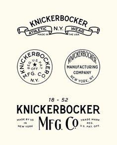 "Joshua Minnich | @joshuaminnich ""Portions of the branding, stamps, buttons and packaging I created for @knickerbockermfgco. Some of my favorite work right here."""