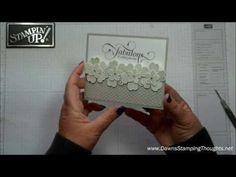 Geponste bloemenkaart - heel mooie basis en niet te moeilijk