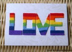 Rainbow Love Felt Card: A Handmade Card Perfectly for Mother's Day, Father's Day, Anniversary, Birthday, Valentine's Day & Friendship