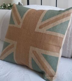 rustic union jack cushion cover - NEED