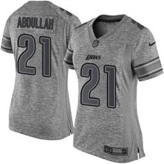 Nike #Lions #21 #Ameer #Abdullah Gray Women's Stitched NFL Limited Gridiron Gray… #NFL #football #patsnation #boston #footballlife #TomBradyJerseys #CamNewtonJerseys #RobGronkowskiJerseys