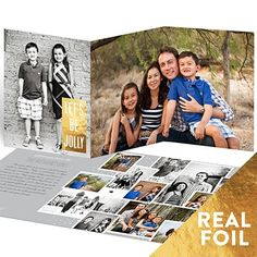 Christmas Cards  -- Scattered Pictures Foil Greeting | Pear Tree Greetings