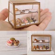 Miniature Bakery Cabinet with goodies inside