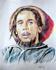 Jonas Berami auguri a Bob Marley con autoritratto suo Damian Marley, Bob Marley Art, Richard Wagner, Robert Nesta, Nesta Marley, Specials Today, The Wailers, Music Icon, Black Art