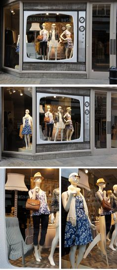 .retro tv window display pinned by Beekwilder.com