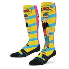 #FashionVault #stance #Men #Accessories - Check this : Stance Beavis And Butthead Black M Fusion Snow Socks for $ USD