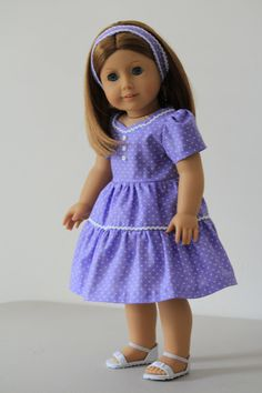 Lavender dress for American Girl doll perfect for by BabiesArtUs, $29.00