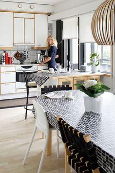 1990-luvun keittiö ei ole Saijan suosikki, mutta kelpaa arjen askareisiin ja ruoanlaittoon.