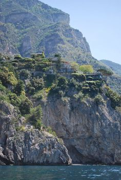 San Pietro di Positano - Amalfi Coast, Italy  Up to the right on the cliff.~~