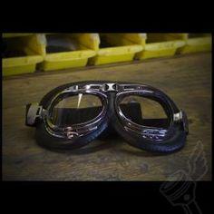 Classic Split Lens Aviator Style Goggles - Chrome  $32.50