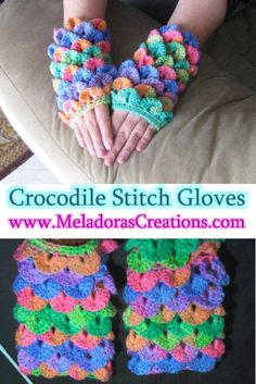 Oombawka Design Crochet This is Your place to learn to crochet the Crocodile Stitch Finger less Gloves for FREE. This is Your place to learn to crochet the Crocodile Stitch Finger less Gloves for FREE. Crochet Unicorn, Crochet Geek, Learn To Crochet, Crochet Crafts, Yarn Crafts, Crochet Projects, Free Crochet, Crochet Pattern, Knit Crochet