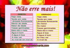Não erre mais #learnportuguese