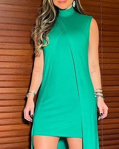 Chic Type, Birthday Dresses, Asymmetrical Dress, S Models, Fashion Outfits, Womens Fashion, Sleeve Styles, Dresses Online, High Neck Dress