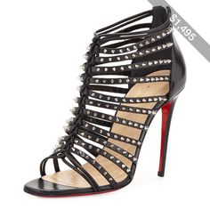 b82cfa0a018 Christian Louboutin Millaclu Mini-Spike Red Sole Pump Red Bottom Shoes