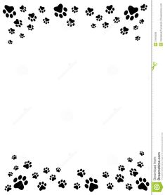 free cat clip art | Cat And Free Dog Clip Art Borders Paw Prints Border Royalty Free Stock ...