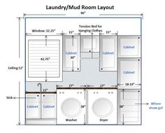 laundry room design layout | This is our laundry mud room layout now. The door from the garage ...