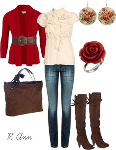 """red rose"" by rachelann34 on Polyvore"