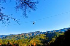 Climb Works Ziplining over Smoky Mountains, Gatlinburg, Tennessee