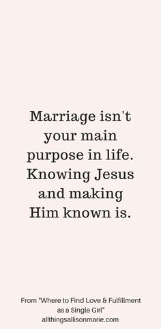 How to find love, fulfillment, and purpose as a single girl. #single #singleChristian #singleness