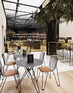 Courtyard Bar at Circa Prince of Wales Hotel | St Kilda, Melbourne #restaurant #design #interiors. Mmmmmm- those chairs!