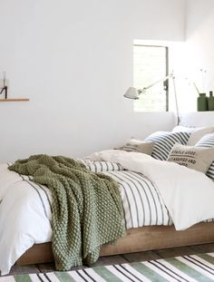 Light Green And White Bedroom. I've Come Over To The Light Side 10 Bedroom With White . Attractive Painting Ideas For Bedrooms Decorating Ideas . Home Design Ideas Bedroom Green, Dream Bedroom, Home Bedroom, Bedroom Ideas, Earthy Bedroom, Green Bedding, Casual Bedroom, Budget Bedroom, Bedroom Inspiration