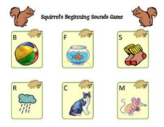 This fall-themed game is designed to reinforce the sounds of the letters B, C, F, M, R and S. 2-6 players each have a game board, showing pictures that begin with the above letters. There are 36 cards to draw that show other pictures beginning with the same letters. To complete the game, cover up all six of your letters.