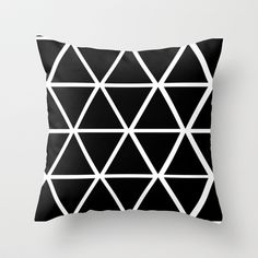 BLACK & WHITE TRIANGLES 2 Throw Pillow by natalie sales - $20.00